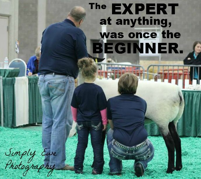 The passion of showing livestock begins at a young age