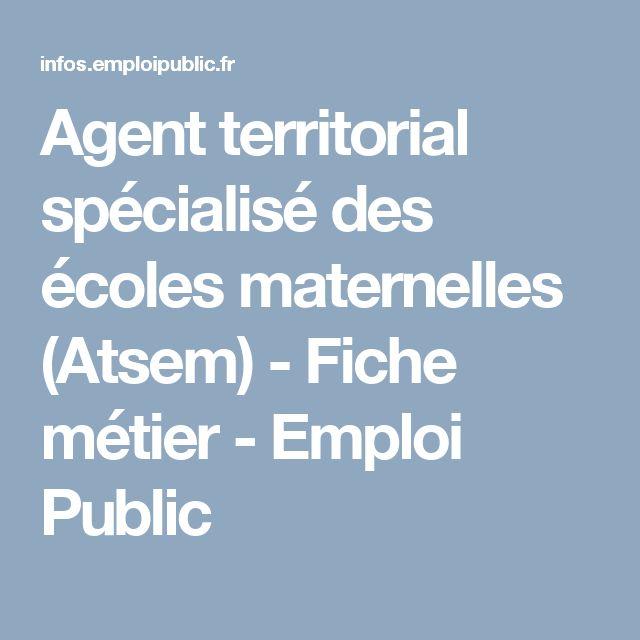 Agent territorial spécialisé des écoles maternelles (Atsem) - Fiche métier - Emploi Public