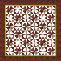 Week32 'Summer Plums Quilt' a design I created using only two main colorways - red and grey. I have been thinking about the lovely plums we grow in our garden and decided to mimic this in my next quilt. The plums have a mottled dark red skin which is represented well by the batik fabrics. The narrow yellow border is also hinted at in their skins.    My quilt is made up from 36 squares. You'll notice that half the blocks have been made in reverse colors.