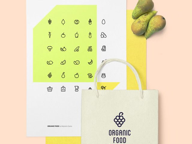 A set of 30 free organic food icons that come in all common (vector-based) formats. The food icon set is perfect for modern food projects.