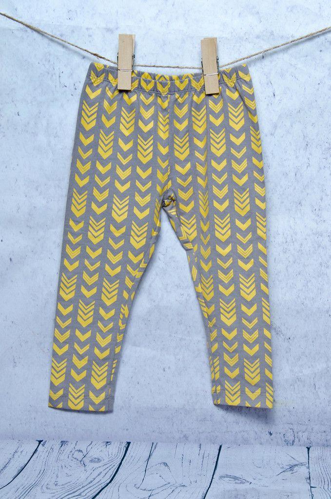 Mustard Yellow Chevron Leggings
