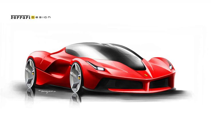 LaFerrari design study from the left-front.
