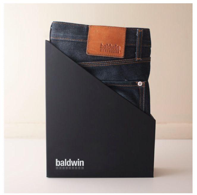 Jean packaging by Baldwin Denim
