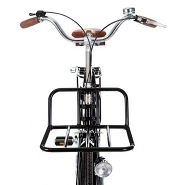 Velorbis steel front carrier €125.00. I want a front rack like this! No bracket to the wheel, attaches to the frame butcher bike style. Yes.