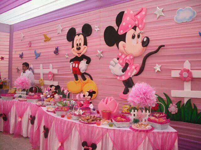 Decoracion Minnie Rosada ~ Micky & Minnie party ideas  Party`s  Pinterest