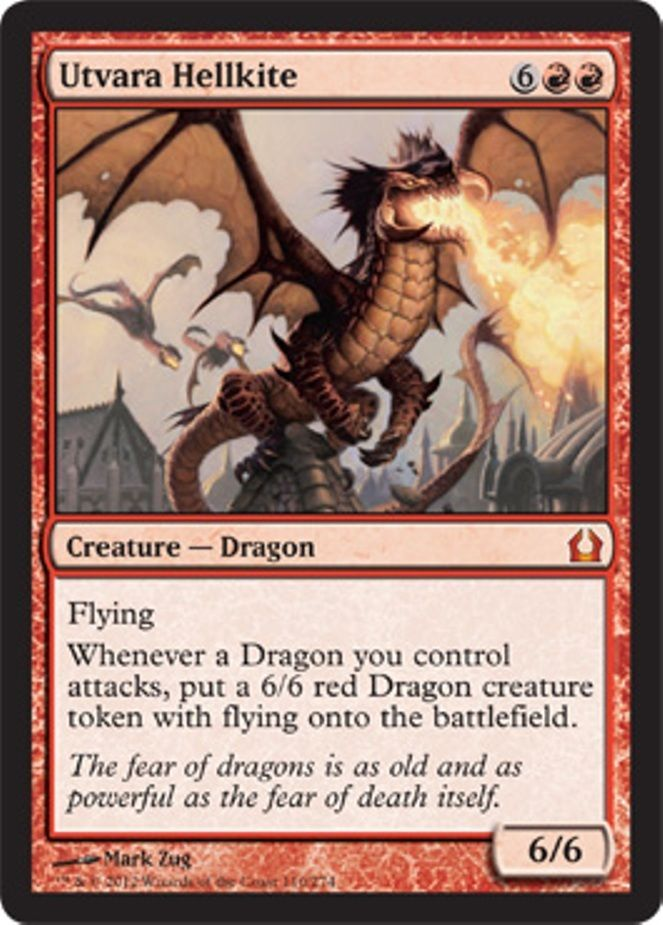 mtg RED DECK Magic the Gathering utvara hellkite dragon rare game cards lot NM