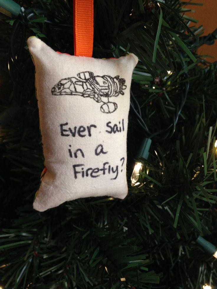 "Serenity Ship ""Ever Sail in a Firefly?"" Christmas Ornament Kaylee Frye Shepherd Book Jayne Zoe Browncoat Parasol Mal Reynolds FREE SHIPPING by HollyAndHerHobbies on Etsy"