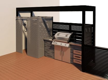 affordable option to simple, but beautiful outside bbq area