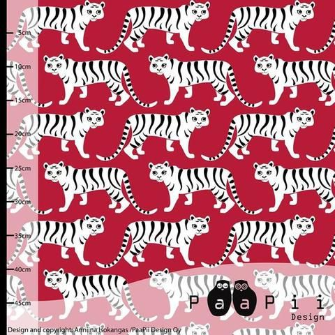 Tigers Jersey, Red by Paapii Design