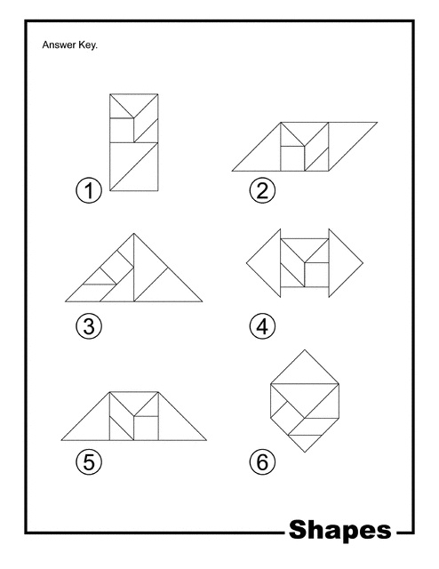 tangram coloring pages - photo#28