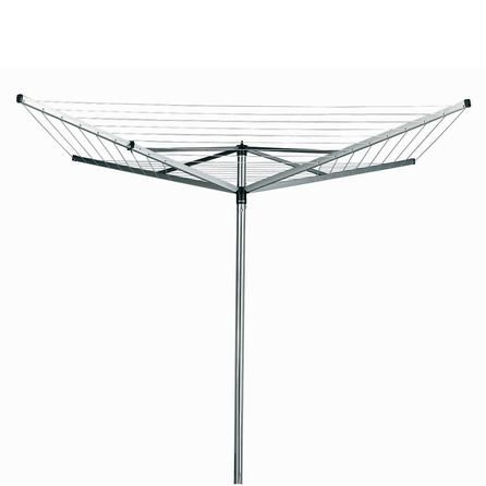 Brabantia Topspinner Grey Steel Outdoor 4 Arm Rotary Airer