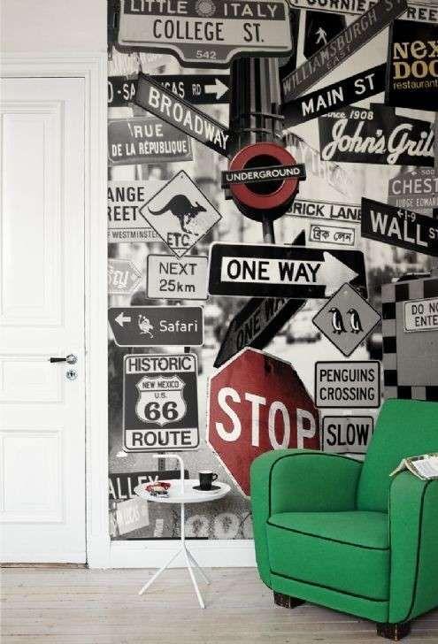 Decoración de habitaciones juveniles: Fotos de diseños - Original mural para decorar la habitación de tus hijos