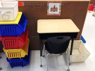 TEACCH based work station for Autism classroom.  Some great tips for effectively setting up your classroom and work stations for your students with autism and special learning needs.  Read more at:   http://sunnyinsped.blogspot.com/2013/06/setting-up-my-autism-classroom-step-3.html