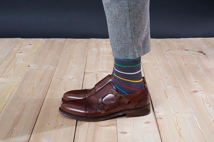 Barevné ponožky SocksInBox Nature (detail)
