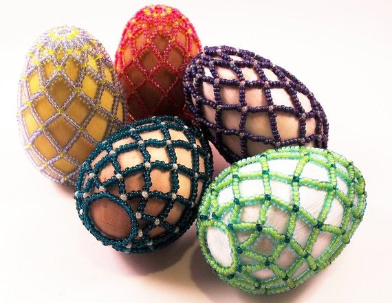 Easter Treasures Beaded Egg Pattern Beading Tutorial by zaneymay, $6.00