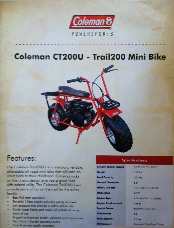 The Coleman Trail200U is a nostalgic, reliable, affordable ...