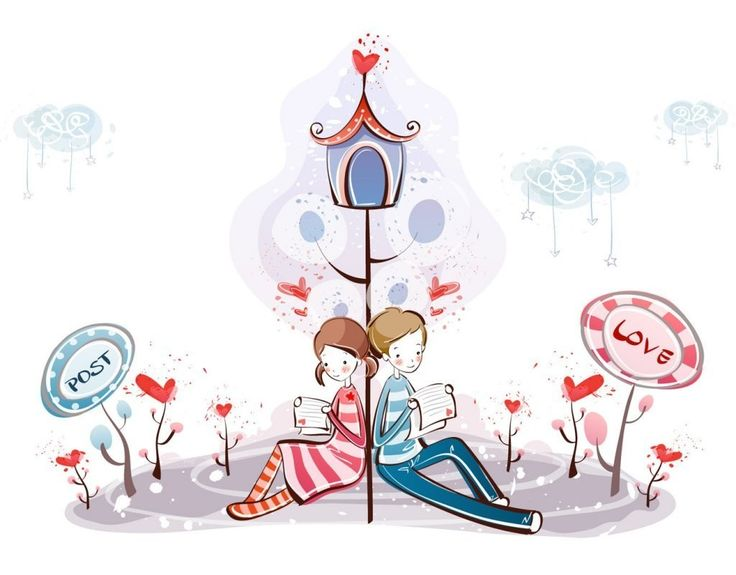 9 best images about romantic valentine 39 s day wallpapers on - Cartoon valentine wallpaper ...