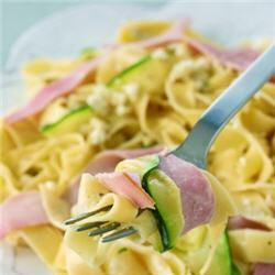 Carbonara de courgettes
