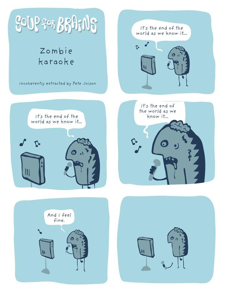Soup for Brains - Zombie karaoke  #weird #webcomic #humor