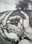 """""""Metaphor"""" is an original etching by Nicholas Wilson.  Edition size of 50.  Represented by Island Arts International and sold at Rose City Framemakers, Madison, NJ."""