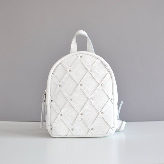 White leather backpack - Baby-Sport