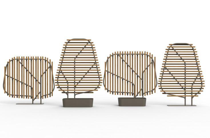 Divisorio in teak e alluminio CLOSTRA by Ethimo design Emmanuel Gallina