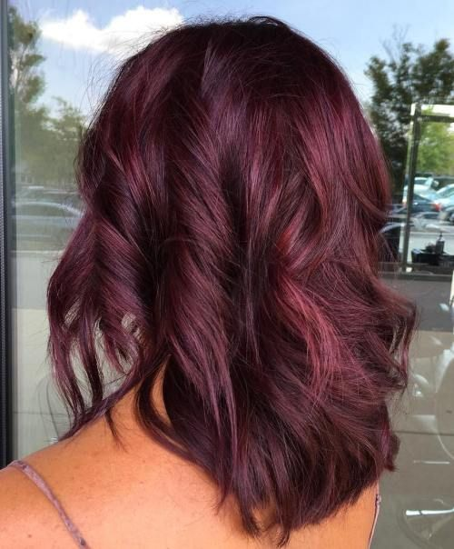 Purple Brown Hair Color