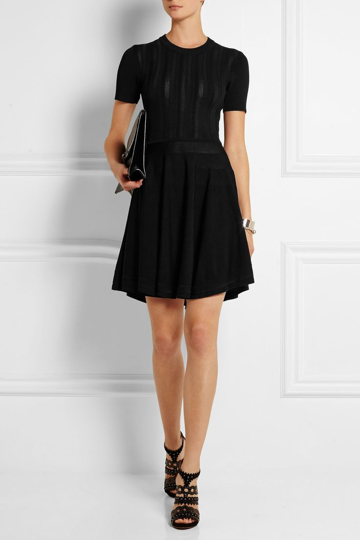 { mcq alexander mcqueen stretch-knit mini dress }