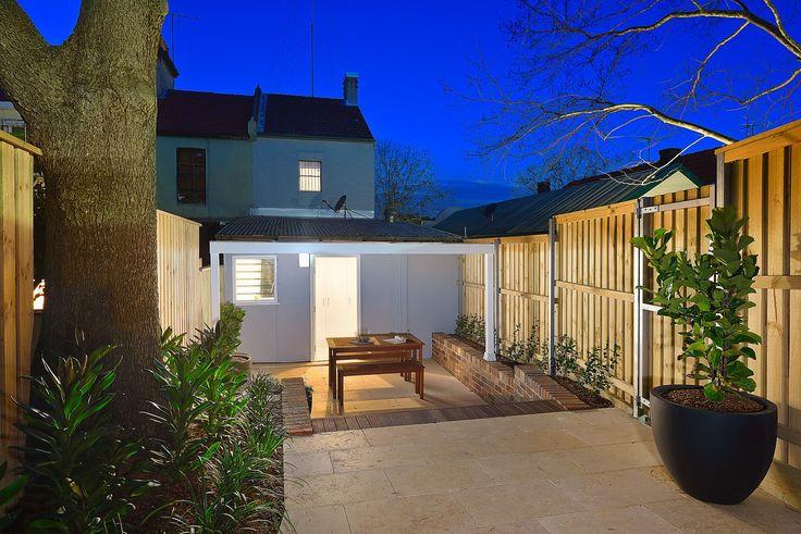 Outdoors, Night, Dusk, Exterior Design, Garden, Landscape, Lighting, Real Estate, For Sale, Pilcher Residential, Annandale