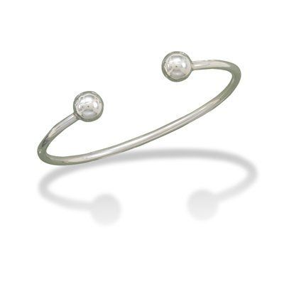 Sterling Silver Men's Cuff Bracelet with Ball Ends West Coast Jewelry. $94.95. Save 50%!