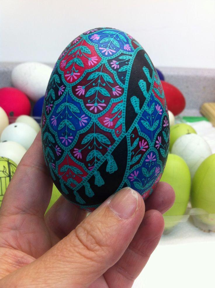 Precision Art Studio Blog: Egg #5- Persian inspired goose egg