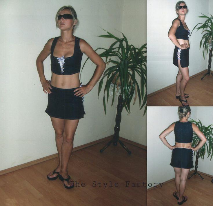 Jeans set - jacket and miniskirt // thestylefactory.pl //