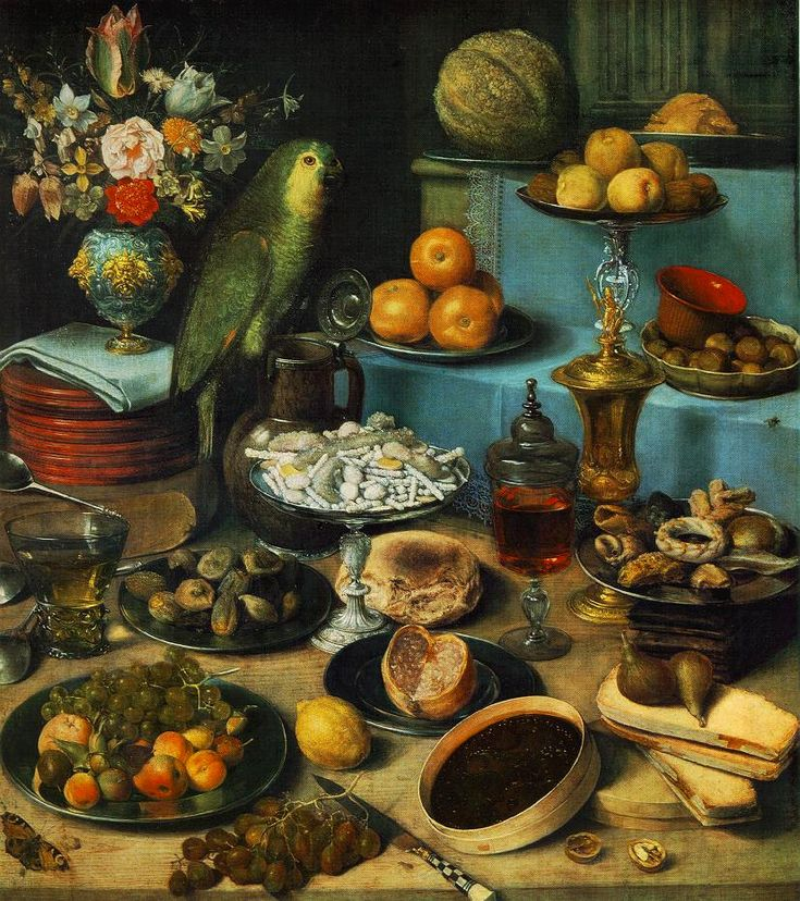 Still Life With Parrot by Georg Flegel (1566-1638)