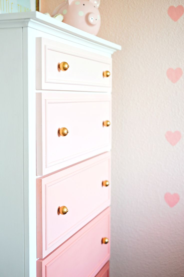Ombre Dresser DIY Project with Pure White and Scandinavian Pink Chalk Paint® | Project Nursery