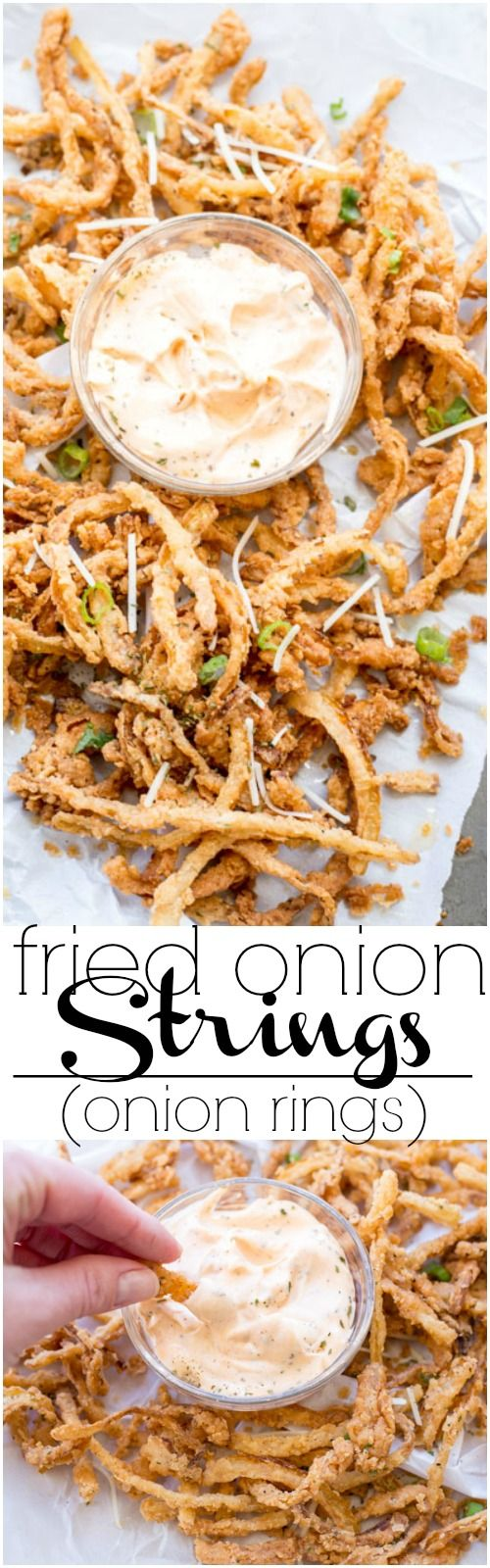 Fried onion strings recipe (onion rings) ValentinasCorner.com