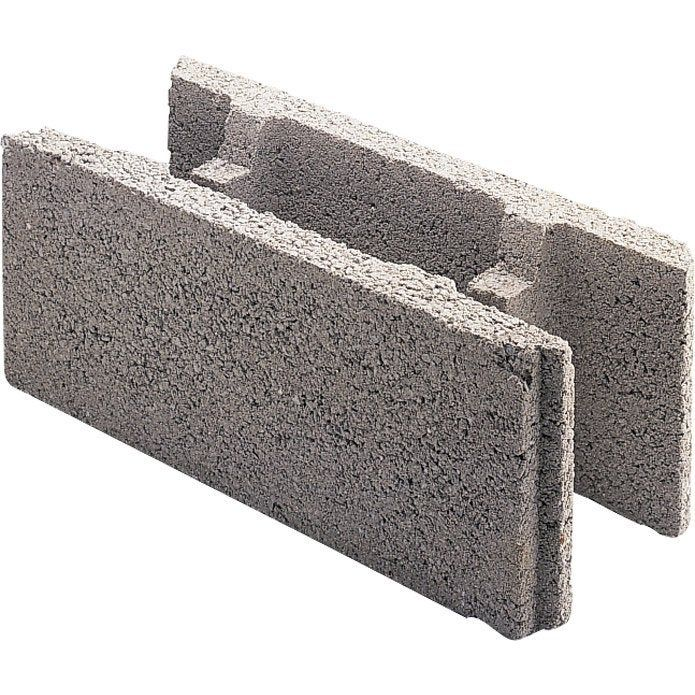 Parpaing A Bancher Beton Nf P 20 X H 50 X Ep 15 Cm Bloc A Bancher Parpaing A Bancher Et Bloc