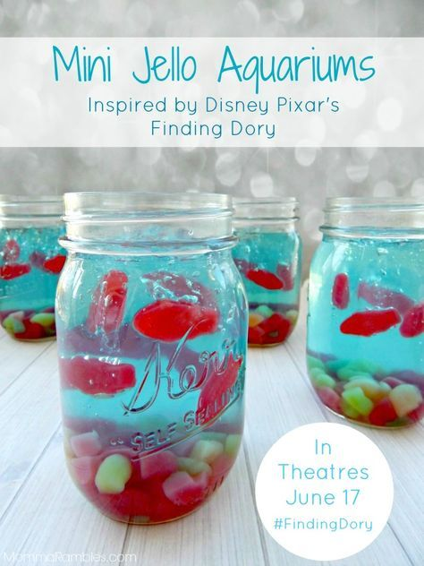 Finding Dory Mini Jello Aquariums | 13 Treats Inspired By Your Favorite Disney Movies | http://www.hercampus.com/health/food/13-treats-inspired-your-favorite-disney-movies