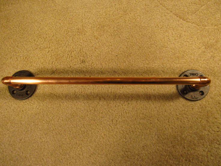 Industrial Bath Towel Bar Copper | eBay