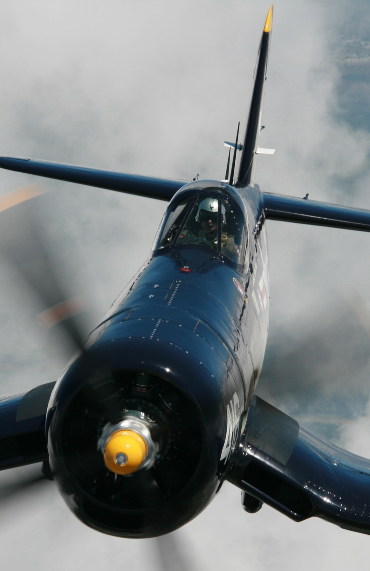 Korean War vintage F4U Corsair. This particular plane over 200 combat missions during December and May of 1951. Later this plane ended up in the Honduran Air Force.