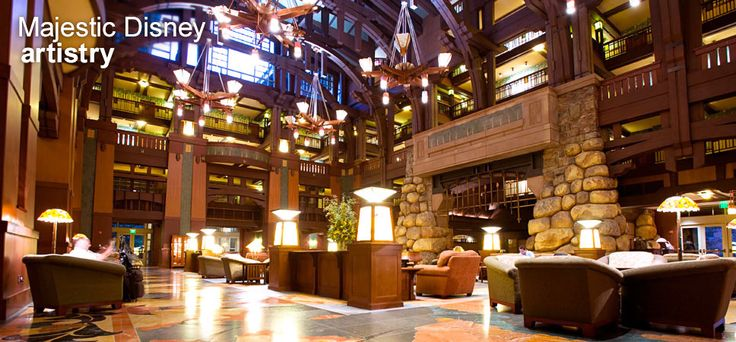 Disney's Grand Californian Hotel & Spa -- my favorite hotel on the west coast!  I stay here whenever I can :)  My hubby and I love the style of this hotel so much that we used it as the model for the house we just finished building :)