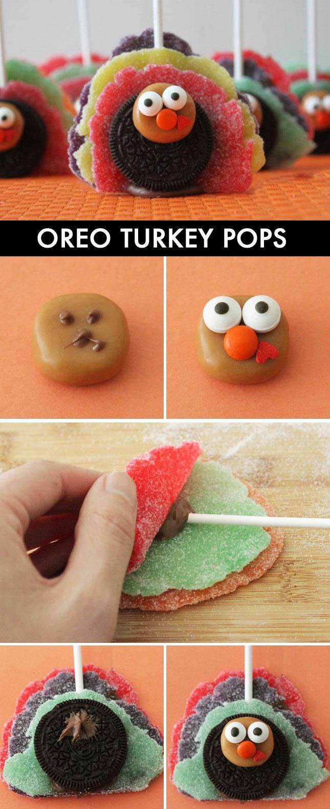 Oreo Turkey Pops - fun!!