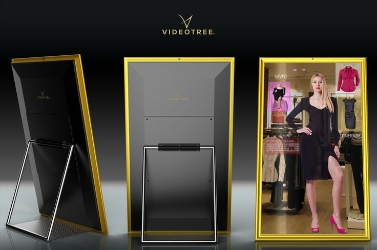 Videotree 98-in 4K smart mirror TV installed in shop window