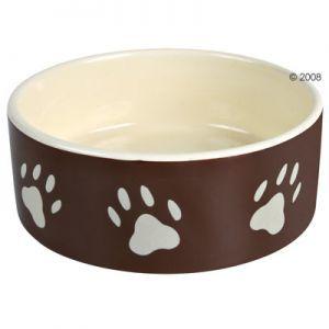 Ciotola in ceramica marrone con zampette