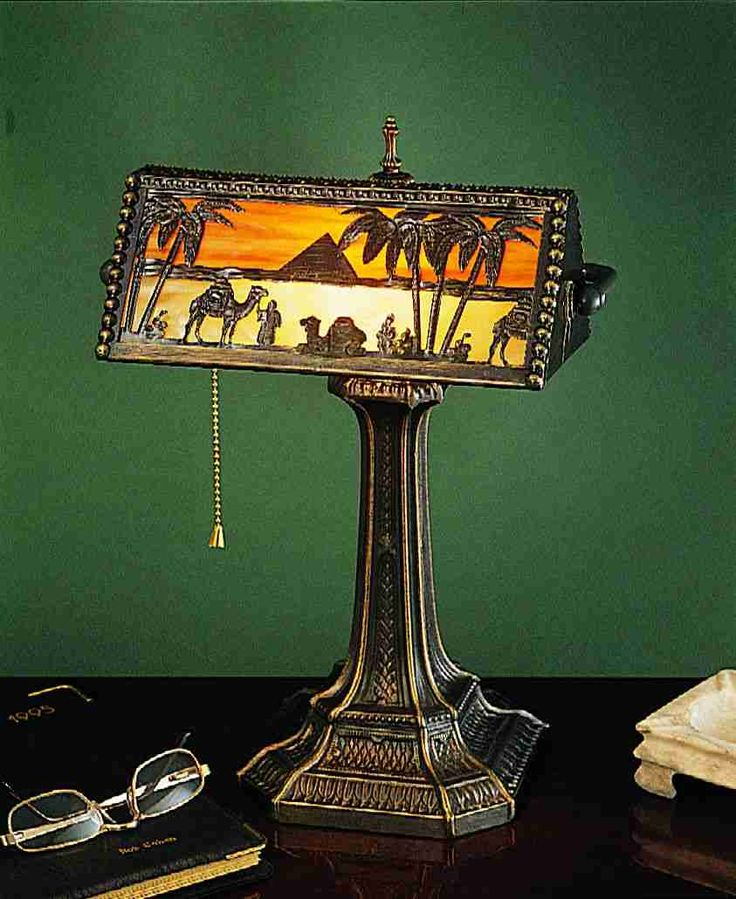 "16.5"" High Camel Mission Bankers Lamp"