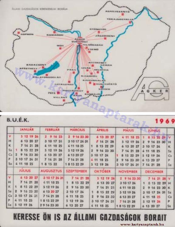 1969 - 1969_0309 - Régi magyar kártyanaptárak