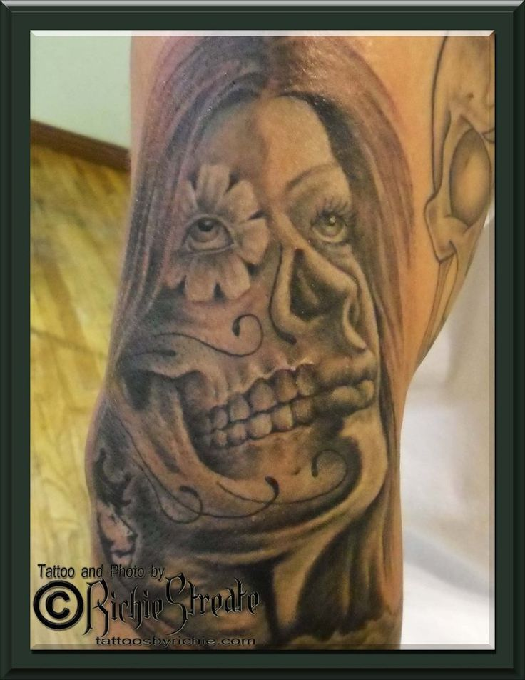Jimmy Skull Face Girl Tattoo by RichieStreate on DeviantArt