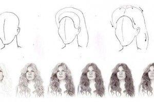 kresba vlasů