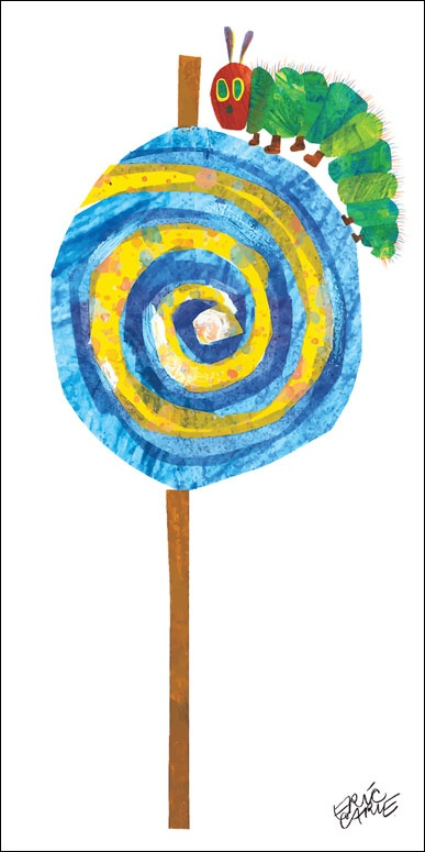 Lollipop Canvas by Oopsy Daisy. Your child will be delighted to recognize this vibrant caterpillar created by Eric Carle. This iconic character is featured in the book The Very Hungry Caterpillar and serves as a wonderful way to unite the joy of reading with your child's surroundings. The World of Eric Carle is beautifully reproduced in this giclee collection that features his most beloved characters.