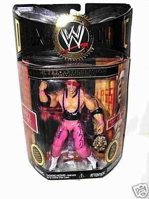 "Jakks WWE Deluxe Classic Series 2 Super Articulation: Bret Hart by Jakks. $46.99. -Bret ""Hitman"" Hart Classic Superstars Deluxe Series 2 figure! Figure features black, pink, and white attire, and includes pink sunglasses, black elbow pads, pink kneepads, WrestleMania 13 Ring Skirt, and WWF PAINTED Winged Eagle Championship Belt!"