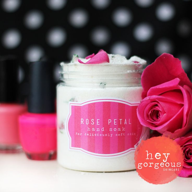 Rose Petal Hand Soak is gorgeously fragrant salts to soften skin and strengthen nails.